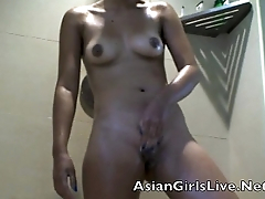 www.filipina.webcam Asian Pinay stripper in the shower washing pussy
