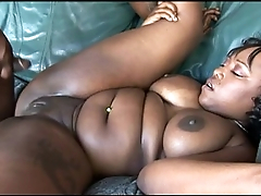 Nasty Ebony Couple Ghetto Fucking
