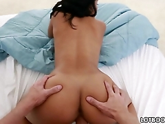 POV of a sexy bubble booty latina Luna Star with great tits