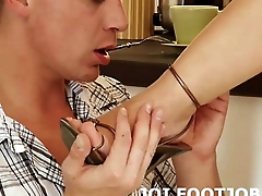 Giving you a footjob makes my pussy so wet JOI