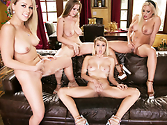 Lena Paul & Zoey Monroe & Luna Star in someone's skin  Girlsway 4Way Lesbian Squirt Fest!