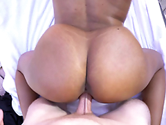 Katt Garcia's big juggs bounce as she getting doggystyled