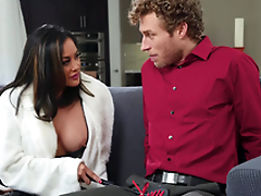Asian bombshell MILF in boots Kaylani Lei gets a huge facial