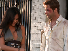 Gorgeous Kaylani Lei gets her vulva munched added to fucked rear end style