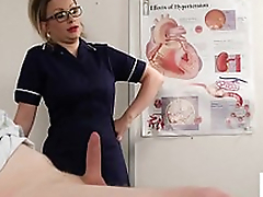 Capital voyeur nurse instructs patient to wank