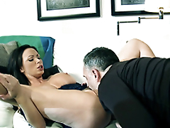 Brunette Nikki Benz starts act of procreating with XXX oral foreplay