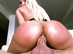 Filthy Latina Luna Star rides XXX tool with ass at every opportunity