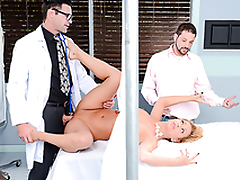 Big Daddy MILF does passionate XXX porn with big-cocked gynecologist