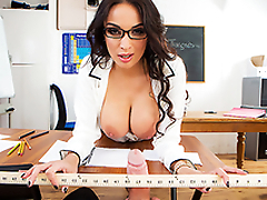 XXX fun with busty teacher Anissa Kate makes the lesson more interesting