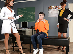 Best gift for student is XXX threesome with sexy nurse and professor