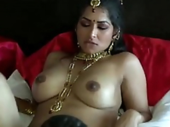 Extremely in violation on dark skinned Desi dude eats wet pussy of his GF