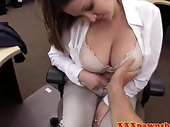Bigtitted pawnshop amateur dicksucking